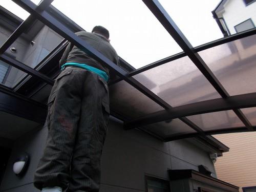 カーポート屋根の取り外し