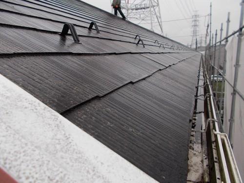 長い屋根は35m