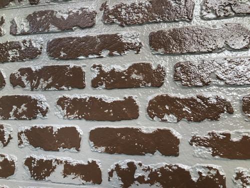 上塗りが終わった外壁