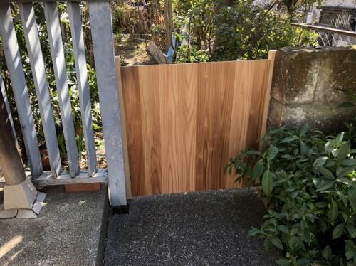 木戸も作り直しです