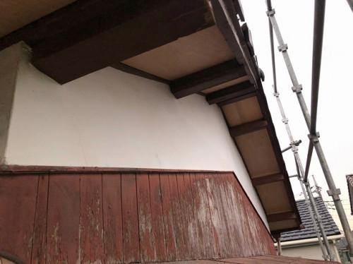 軒天井を補修
