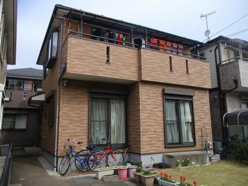 マーブルトーン塗替え前の住宅