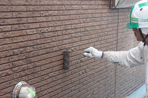 マーブルトーン2色目の塗装作業