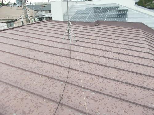 一見すると退色したようなトタン屋根