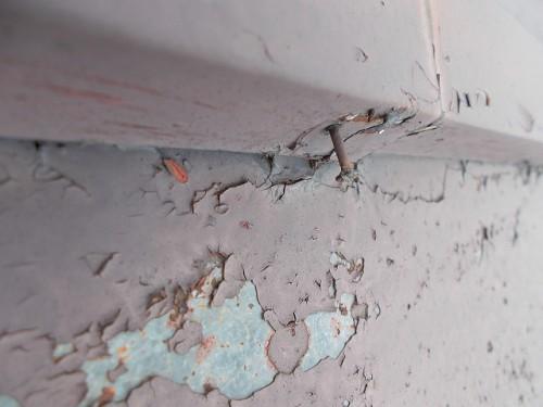 瓦棒も同様の劣化と釘が浮いています。