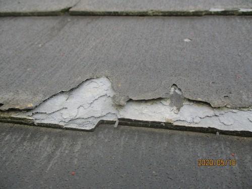 層状剥離を起こしているパミール屋根