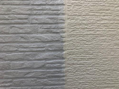 2種類のサイディングで塗り方を変える