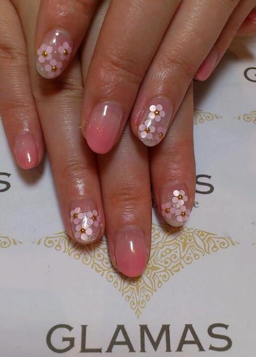 花★ピンク★ラメ