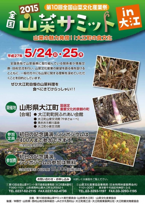 2015全国山菜サミットin大江