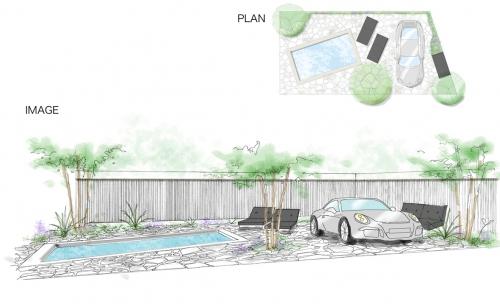 車好きのための庭