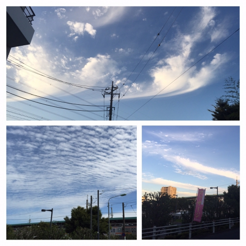 地震雲かね?