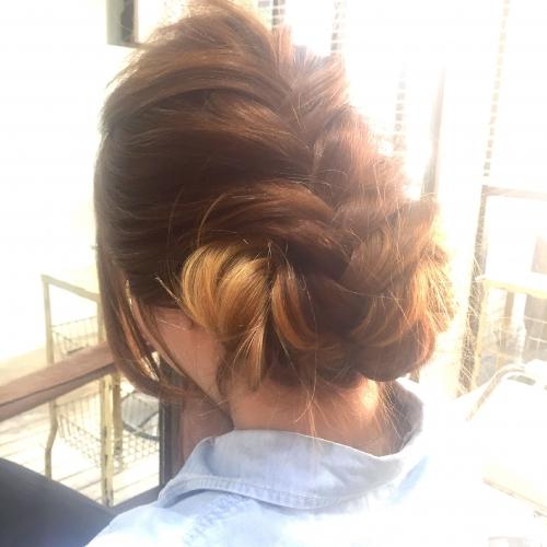 ヘアアレンジ 編み込み 武蔵新城 美容室momoブログ