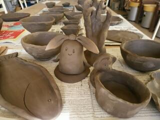 お笑い芸人カンカンさん主催の全力陶芸会の作品です。