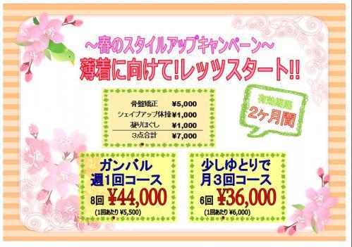〜春のスタイルアップ骨盤セール〜
