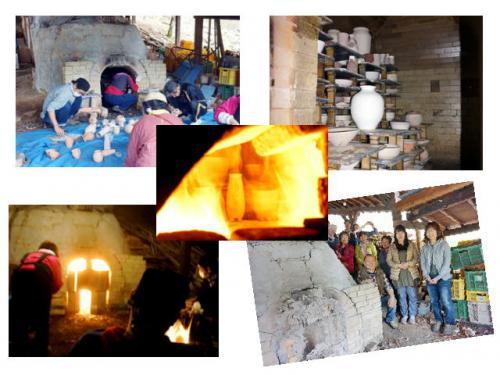 登り窯焼成に行ってきました。陶芸教室 国立けんぼう窯