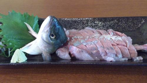 本日の海の幸、イキのよい魚介類は鮮度の高いワカシと・・・
