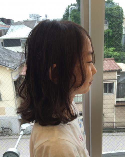 伸ばしかけの髪に☆ ラフで可愛いパーマスタイル