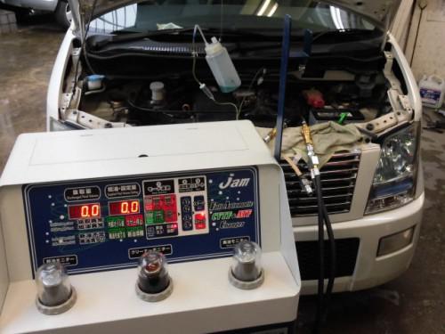 ワゴンR トルコン太郎でATF圧送交換とRECS施工
