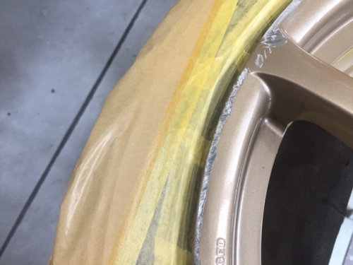 GTRのホイール  ガリ傷