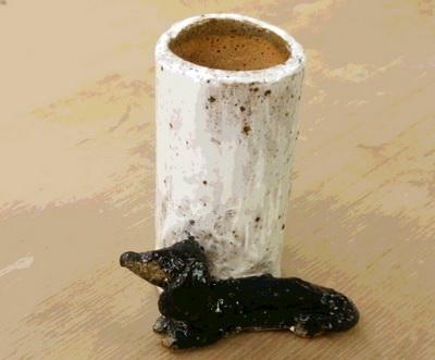 かわいいミニチュアダックスの箸立て。陶芸教室 国立けんぼう窯