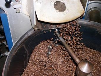 コーヒー豆の焙煎過程