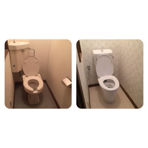 札幌市西区のお客様 トイレ一式交換、壁紙、床材張替工事