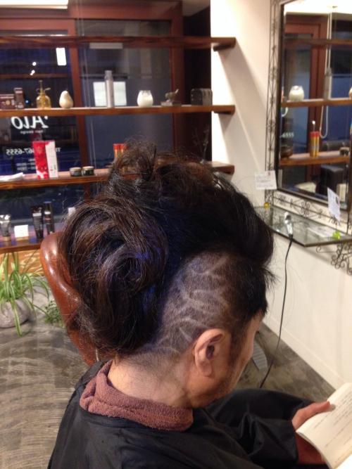 メンズカット  まとめ髪