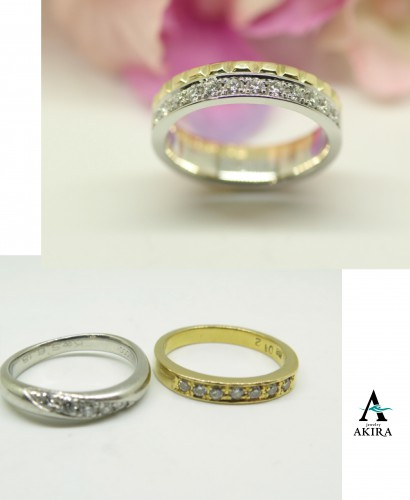 結婚指輪と叔母様に頂いた指輪を溶かしてリフォーム