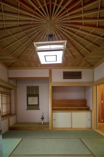 埼玉県 自然素材のこだわり平屋 美しい天井