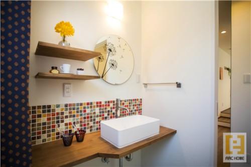 ちょっとカッコイイ造作洗面で家族が仲良く暮らす注文住宅