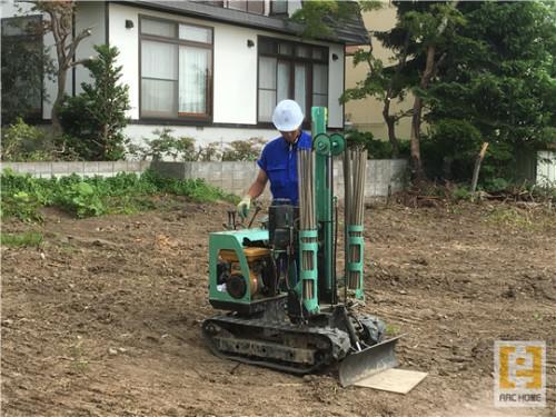 札幌市で新築注文住宅の地盤調査!建築前の大切な調査です!