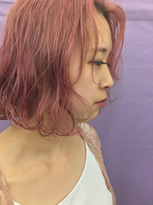 ファニーなピンクヘアーTLONY渋谷