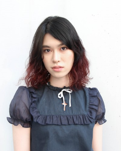 2トーンカラー・ゆるふわパーマ・ピンク系