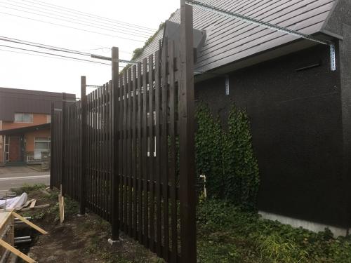 ⭐️江別市 雪止め用フェンス竣工⭐️