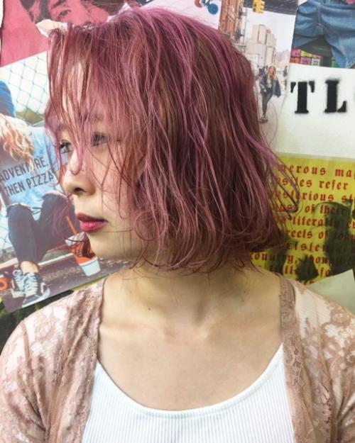 TLONY渋谷 前回のブリーチを活かしたカラー。