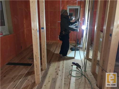 札幌市新築注文住宅♪無垢床材張り♪棟梁の丁寧な仕事が光る♪