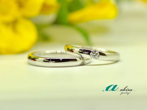 埼玉県草加市から御来店のお客様の結婚指輪の御納品でした