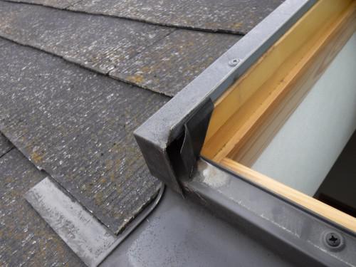 豊島区 天窓の雨漏りは吹き込みもある 屋根勾配と天窓の関係