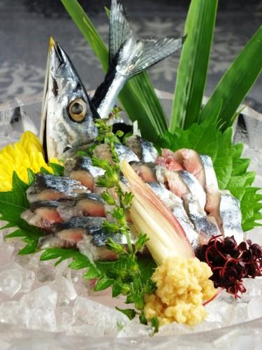 本日のお勧め!逸早い「秋刀魚造り」