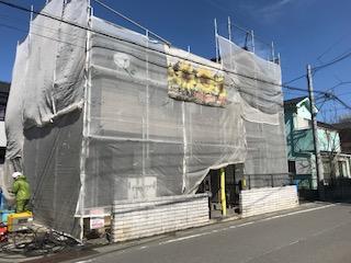 川越市で外壁の高圧洗浄工事を施工しました