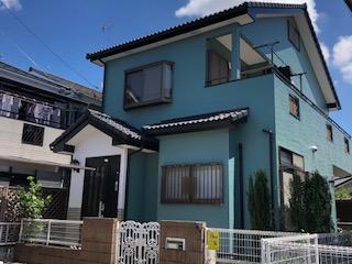 東松山市でサイディング塗替え工事施工しました