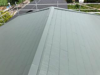 坂戸市で屋根遮熱塗装を施工しました