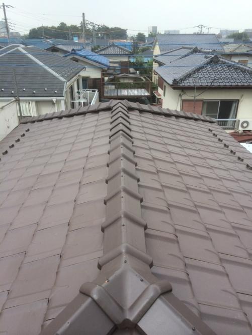 坂戸市で屋根瓦の葺き替え致しました