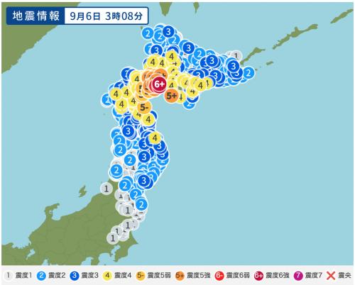 ☆北海道で震度6強☆