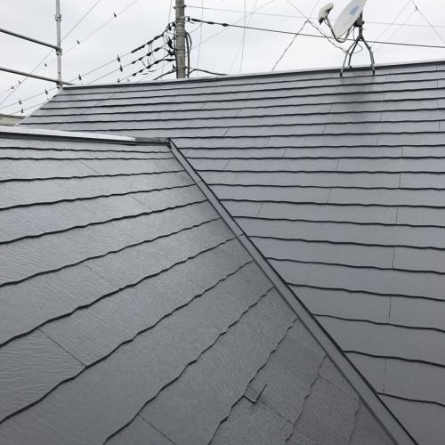 川越市で屋根遮熱塗装しました