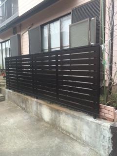 鶴ヶ島市でフェンス工事が完了致しました