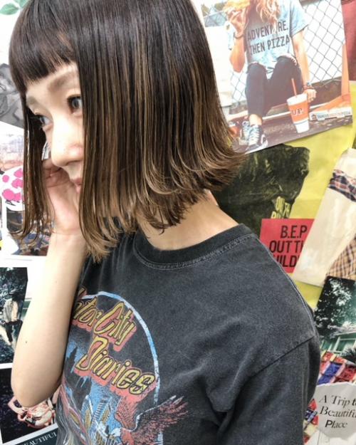 動きのあるボブ TLONY渋谷