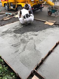 鶴ヶ島市で駐車場土間コンクリート打設工事を施工致しました