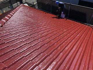 川越市でセメント瓦の塗り替え工事を致しました