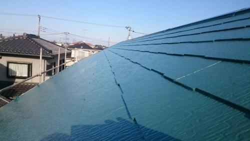 日高市で屋根の遮熱塗装を致しました